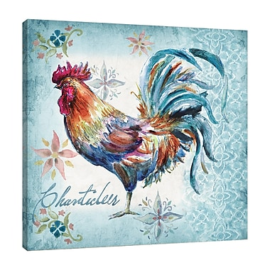 Fleur De Lis Living 'Rooster: Chanticleer' Watercolor Painting Print on Wrapped Canvas