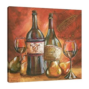Fleur De Lis Living 'Wine Trio II' Print on Wrapped Canvas; 24'' H x 24'' W