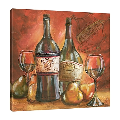 Fleur De Lis Living 'Wine Trio II' Print on Wrapped Canvas; 30'' H x 30'' W