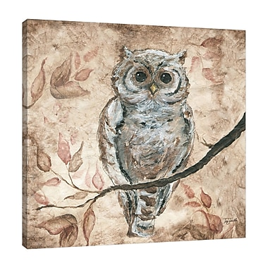 Fleur De Lis Living 'Wisdom Owl I' Print on Wrapped Canvas; 20'' H x 30'' W