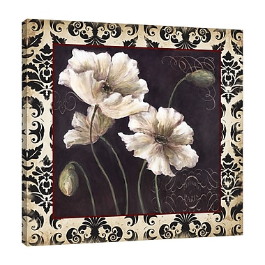 Fleur De Lis Living 'Tricoastal Black and White Poppies' Graphic Art Print on Wrapped Canvas