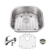 Cahaba Gauge Stainless Steel 23'' x 20'' Undermount Kitchen Sink w/ Faucet and Soap Dispenser