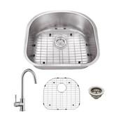 Cahaba Gauge Stainless Steel 23'' x 20'' Undermount Kitchen Sink w/ Faucet