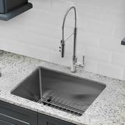 Cahaba Gauge Stainless Steel Handmade 23'' x 19'' Undermount Bar Sink w/ Faucet and Soap Dispenser