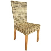 Bay Isle Home Ashland Wicker Upholstered Dining Chair