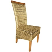Bay Isle Home Abington Wicker Upholstered Dining Chair