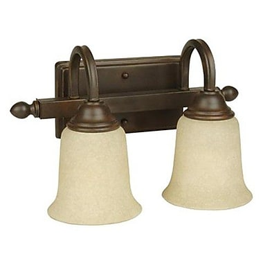 Charlton Home Belvidere 2-Light Vanity Light; White