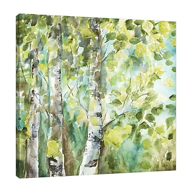 Charlton Home 'Summer Aspens' Watercolor Painting Print on Wrapped Canvas; 30'' H x 30'' W