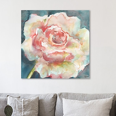 Charlton Home 'White Camelia III' Watercolor Painting Print on Wrapped Canvas; 30'' H x 30'' W