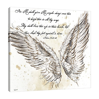 Ebern Designs 'On Angel's Wings I' Graphic Art Print on Wrapped Canvas; 18'' H x 18'' W