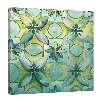 Ebern Designs 'Geo Arabesque C' Watercolor Painting Print on Wrapped Canvas; 24'' H x 24'' W
