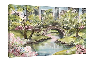 Ebern Designs 'Central Park' Print on Wrapped Canvas; 28'' H x 42'' W