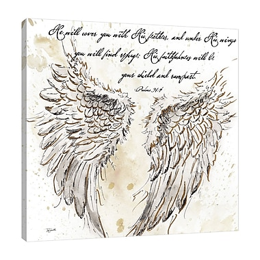 Ebern Designs 'On Angel's Wings II' Graphic Art Print on Wrapped Canvas; 12'' H x 12'' W