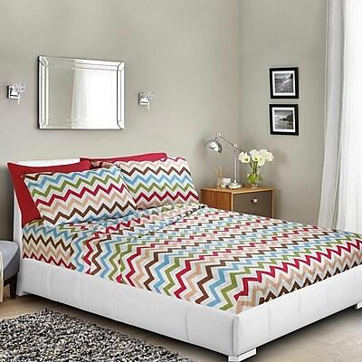 Ebern Designs Ramjohn Printed Bed Sheet Set; Twin WYF078282021538