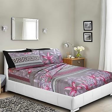 Ebern Designs Massingill Printed Bed Sheet Set; Full/Double