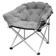 Ebern Designs Hera Oversized Papasan Chair; Gray