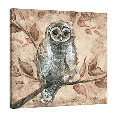 Fleur De Lis Living 'Wisdom Owl II' Print on Wrapped Canvas; 30'' H x 30'' W