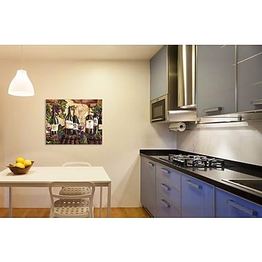 Fleur De Lis Living 'Wine Barrels w/ Brick' Print on Wrapped Canvas; 12'' H x 12'' W
