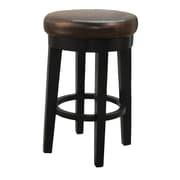 Red Barrel Studio Jeddo 25'' Swivel Bar Stool; Brown