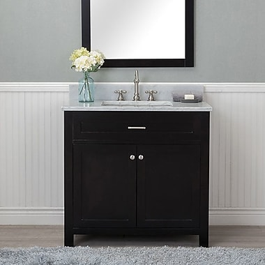 Red Barrel Studio Cecilton 36'' Single Bathroom Vanity Set; Espresso