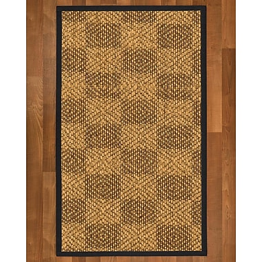 Winston Porter Hearne Sisal Midnight Blue Area Rug; 9' X 12'