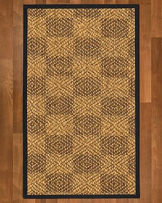 Winston Porter Hearne Sisal Midnight Blue Area Rug; 2' X 3'