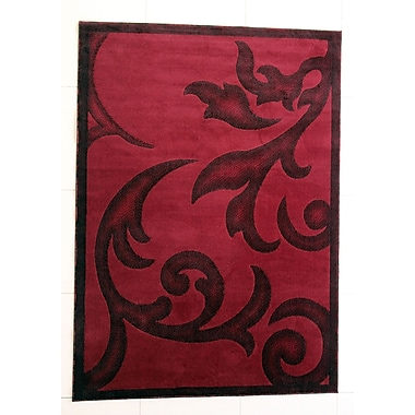 Fleur De Lis Living Shelby Burgundy Area Rug; Runner 2'7'' x 9'10''