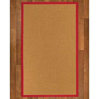 Highland Dunes Shauntel Sisal Red Area Rug; 2' X 3'