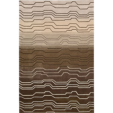 Ivy Bronx Newbury Hand-Tufted Brown Area Rug; 7'3'' x 9'3''