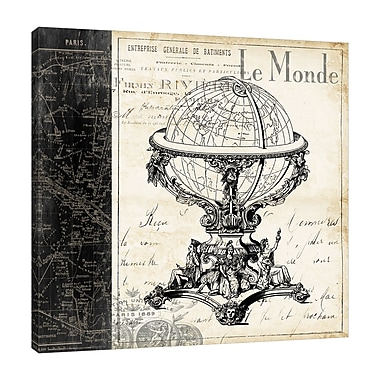 Ophelia & Co. 'Paris Globe' Graphic Art Print on Wrapped Canvas; 48'' H x 48'' W