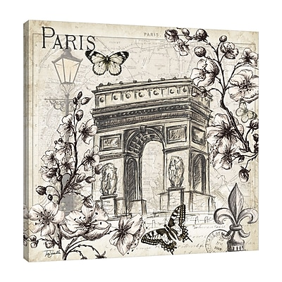 Ophelia & Co. 'Paris in the Springtime: Arch' Graphic Art Print on Wrapped Canvas; 48'' H x 48'' W