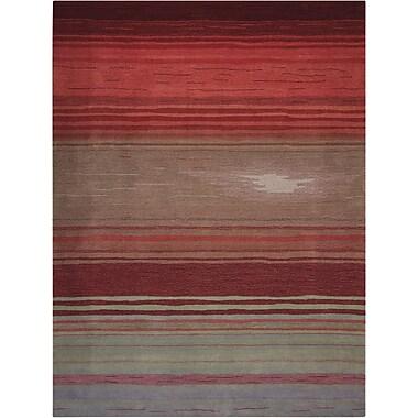 Loon Peak Fenoglio Hand-Tufted Red Area Rug; 5' x 7'6''