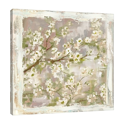 Ophelia & Co. 'Asian Cherry Blossom' Print on Wrapped Canvas; 18'' H x 18'' W