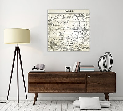 Ophelia & Co. 'Paris Map III' Graphic Art Print on Wrapped Canvas; 48'' H x 48'' W