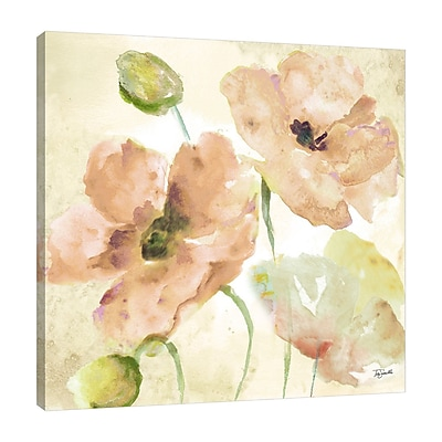 Ophelia & Co. 'Watercolor Blush and Gold II' Print on Wrapped Canvas; 36'' H x 36'' W
