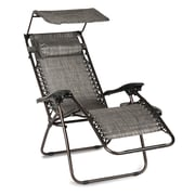 Winston Porter Hesson Zero Gravity Chair w/ Cushions; Gray