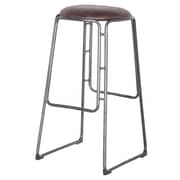 Williston Forge Elna 31'' Bar Stool (Set of 2); Vintage Coffee Brown