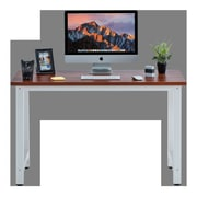 Winston Porter Greenhalge Stylish Home Office Computer Desk; Teak/White