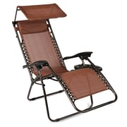 Winston Porter Hesson Zero Gravity Chair w/ Cushions; Brown
