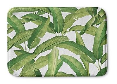 Bayou Breeze Pallavi Banana Leaves Memory Foam Bath Rug; 17'' H x 24'' W x 0.75'' D