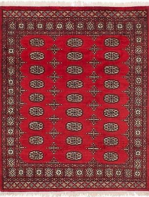 Bloomsbury Market Onondaga Hand-Knotted Wool Red Indoor Area Rug; 4'2'' x 5'6''