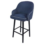 Brayden Studio Coster Swivel Plywood Bar Stool; Denim Slate Blue