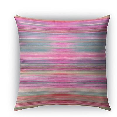 Brayden Studio Ishee Burlap Indoor/Outdoor Throw Pillow; 16'' H x 16'' W x 5'' D