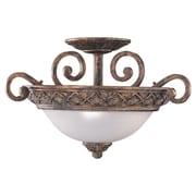 Astoria Grand Beauford 3-Light Semi Flush Mount; Regal Bronze