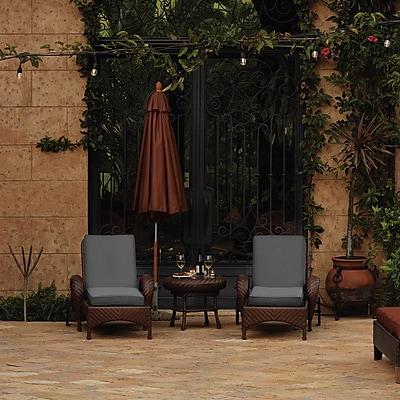 Bayou Breeze Fadesafe? Outdoor Chaise Lounge Cushion; Light Charcol Gray