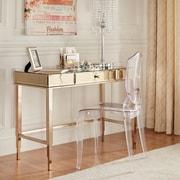 Willa Arlo Interiors Guidinha Writing Desk; Champagne Gold Plated