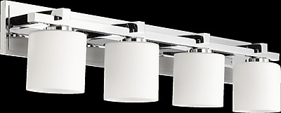 Orren Ellis Marshun 4-Light Vanity Light; Chrome