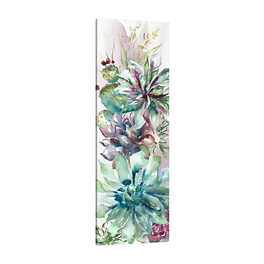 Bungalow Rose 'Succulent Garden II' Print on Wrapped Canvas; 45'' H x 15'' W