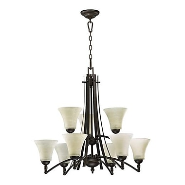 Alcott Hill Eastchester 9-Light Shaded Chandelier
