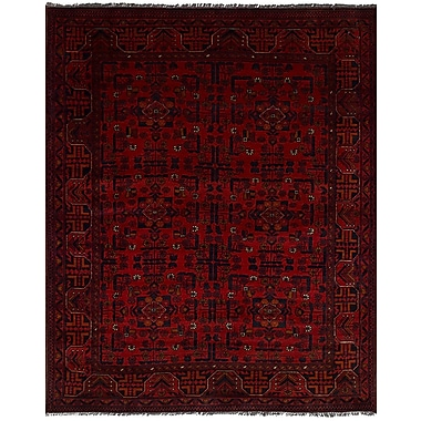 Bloomsbury Market Rosales Hand Knotted Wool Red Area Rug